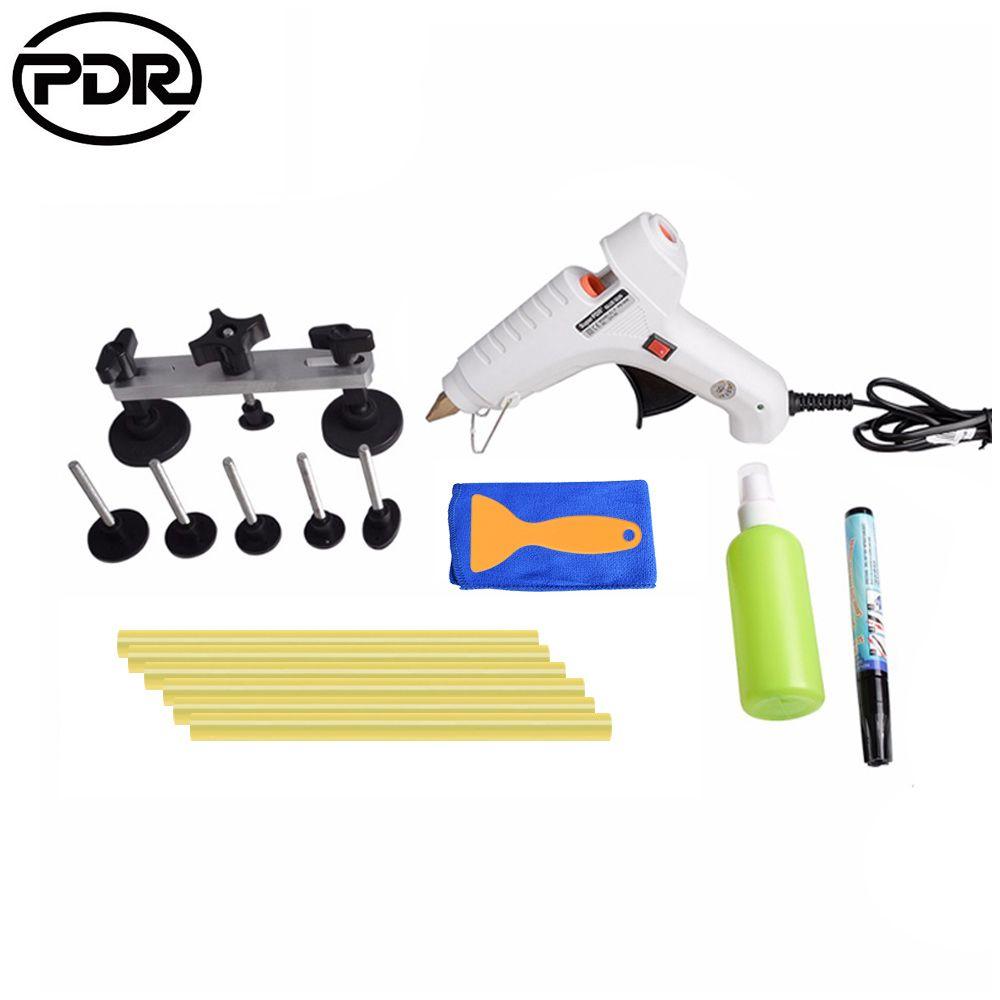 PDR Toolkit Auto Repair Tool To Remove Dents Car Body Repair Paintless Dent Repair Pulling Bridge 12 v Glue Gun