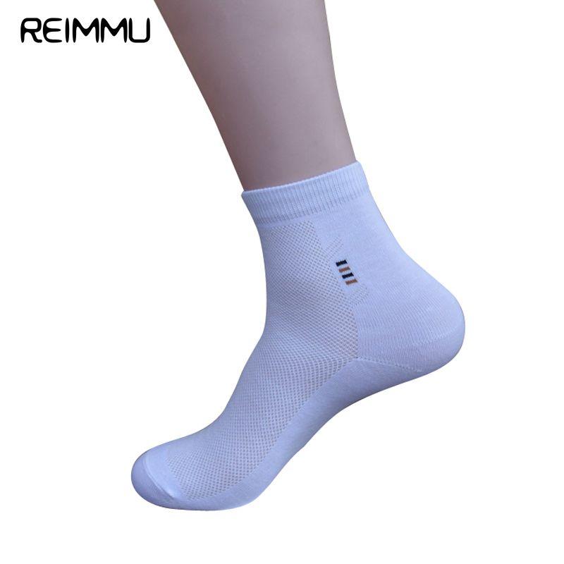 Reimmu Famous Brand 6 PCS Male Socks Quality Adult Socks Men Cosy Calcetines Hombre White Meias Masculino Chaussett Hommes