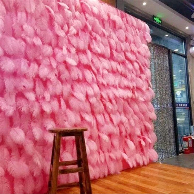 100 Pcs/lot flauschigen weichen straußen federn rosa feder für handwerk ostrich plumes hochzeit party dekoration 10-15cm GPD8741