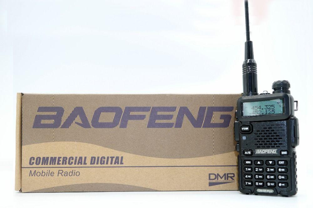 2pcs Baofeng DM-5R Plus Portable Radio VHF UHF Dual Band DMR Digital Anolog dual mode 5W 128CH Walkie Taklie DM5R+ Transceiver