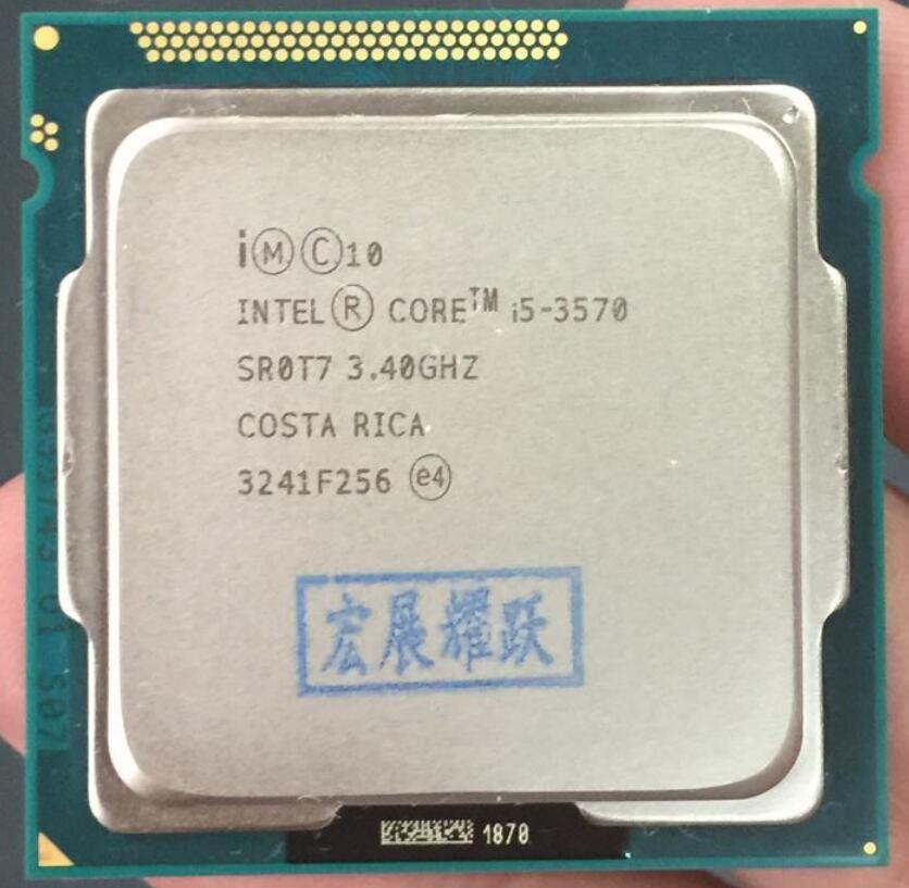 Intel Core i5-3570 I5 3570 Processeur (6 m Cache, 3.4 ghz) LGA1155 PC ordinateur De Bureau CPU Quad-Core CPU