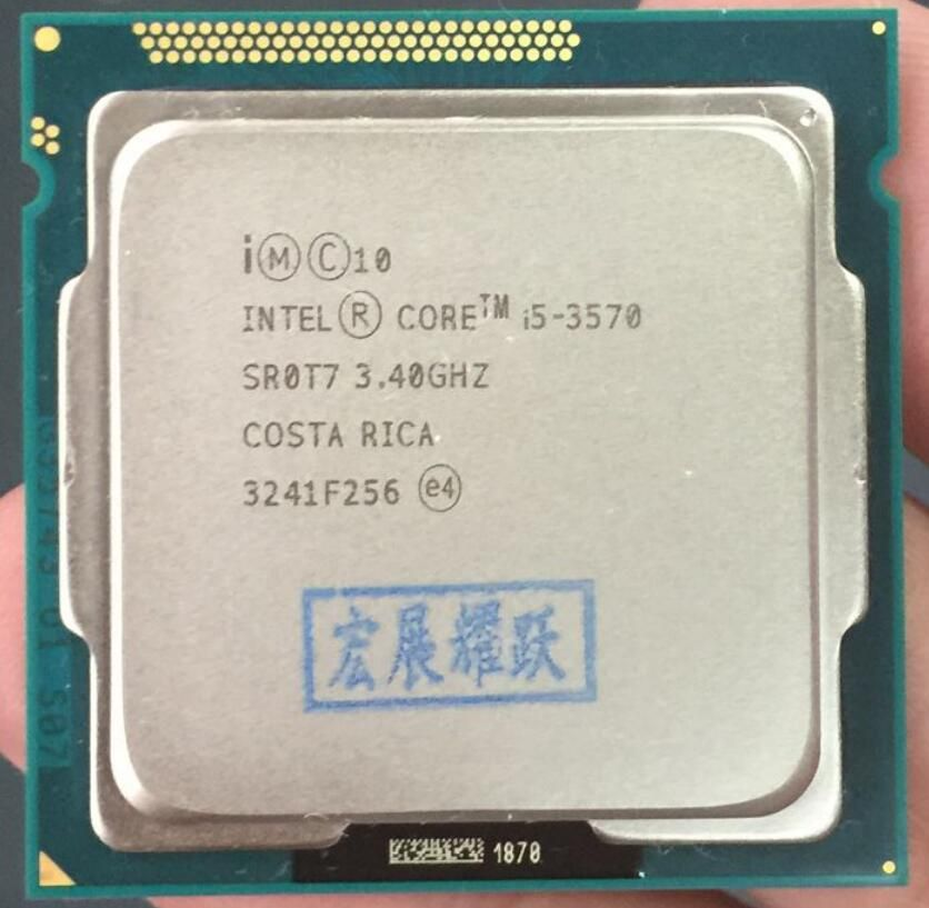 Intel Core i5-3570 I5 3570 Prozessor (6 mt Cache, 3,4 ghz) LGA1155 PC computer Desktop CPU Quad-Core CPU