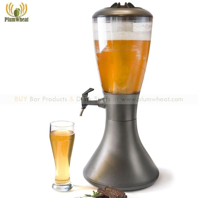 4 liter Hohe Qualität Schwarz Bier Dispenser Turm mit Großen Eis Rohr