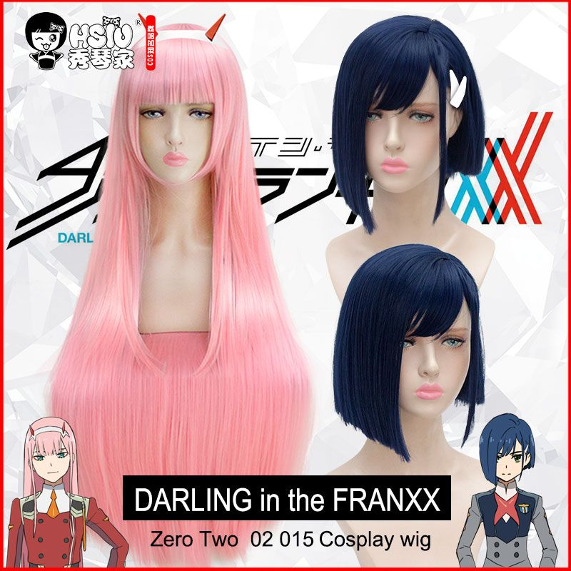 HSIU DARLING in the FRANXX Cosplay Wig <font><b>Zero</b></font> Two ICHIGO Costume Play Wigs Halloween Costumes Hair free shipping NEW High quality