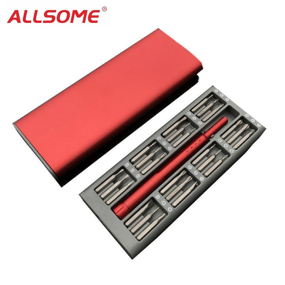 ALLSOME 24 in 1 Multi-purposed Precision Screwdriver Set S2 Steel Alloy Metric Screw Driver Repair Tools For Eletronics