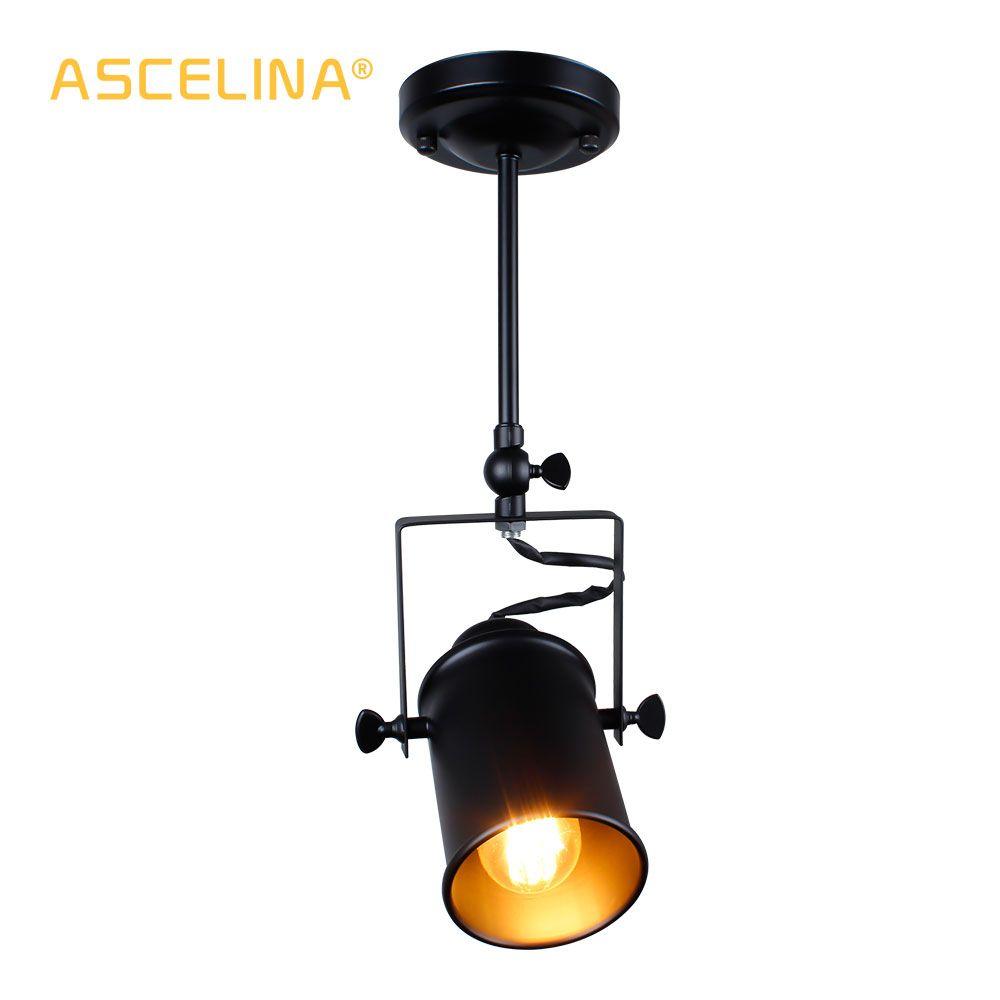 Industrial <font><b>Pendant</b></font> Light Vintage Loft <font><b>pendant</b></font> light Spotlights American <font><b>pendant</b></font> Lamp LED Lamp Restaurant cafe bar decoration