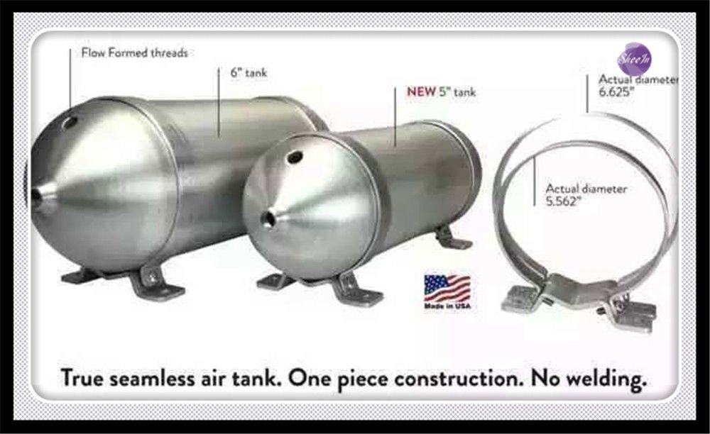 SHEEIN 3 Gallon Iron Seamless air cylinder air tank pneumatic air suspension system tunning vehicle parts
