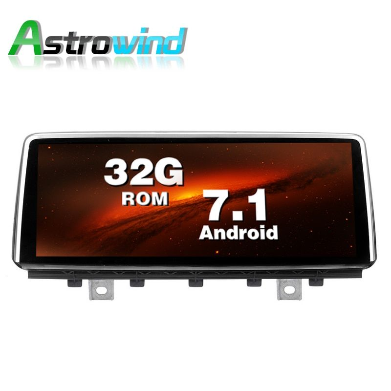 10.25 inch 2G RAM 32G ROM Android 7.1 System Car GPS Navigation Media Stereo Radio For BMW X5 F15 X6 2014- 2017 with NBT System