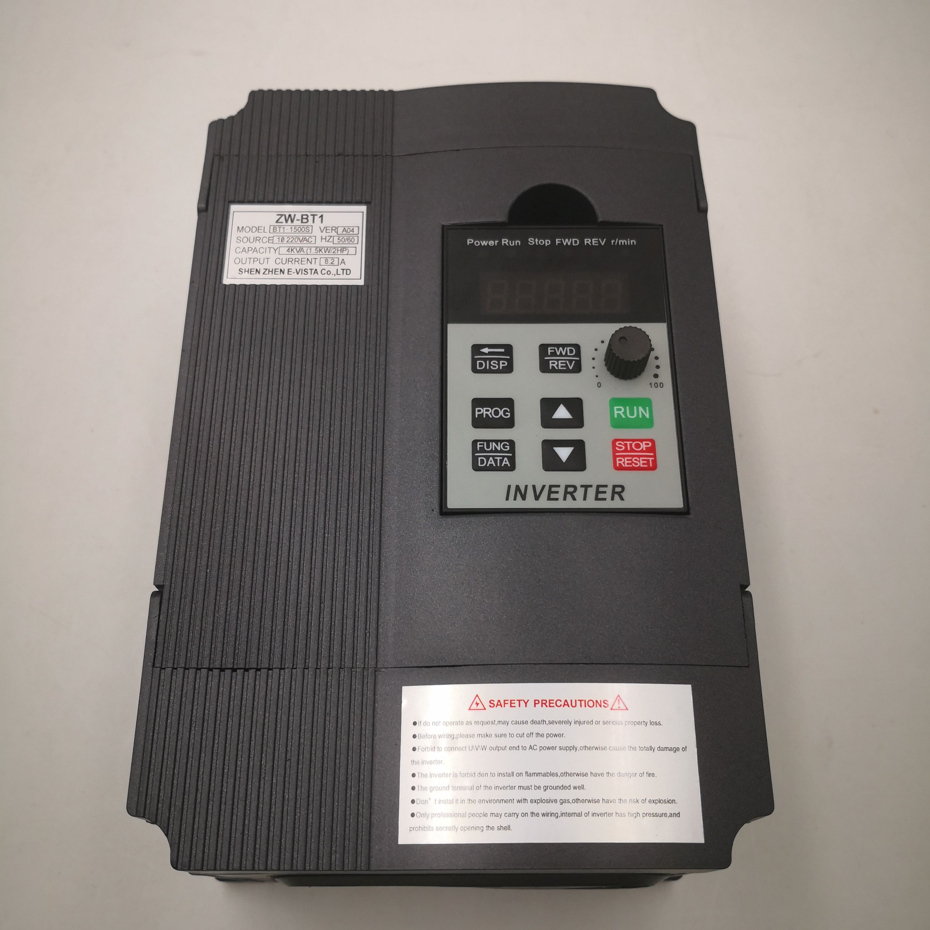 VFD Inverter VFD 1.5KW / 2.2KW frequency inverter ZW-BT1 3P 220V Output Frequency Converter VFD Variable Frequency Drive