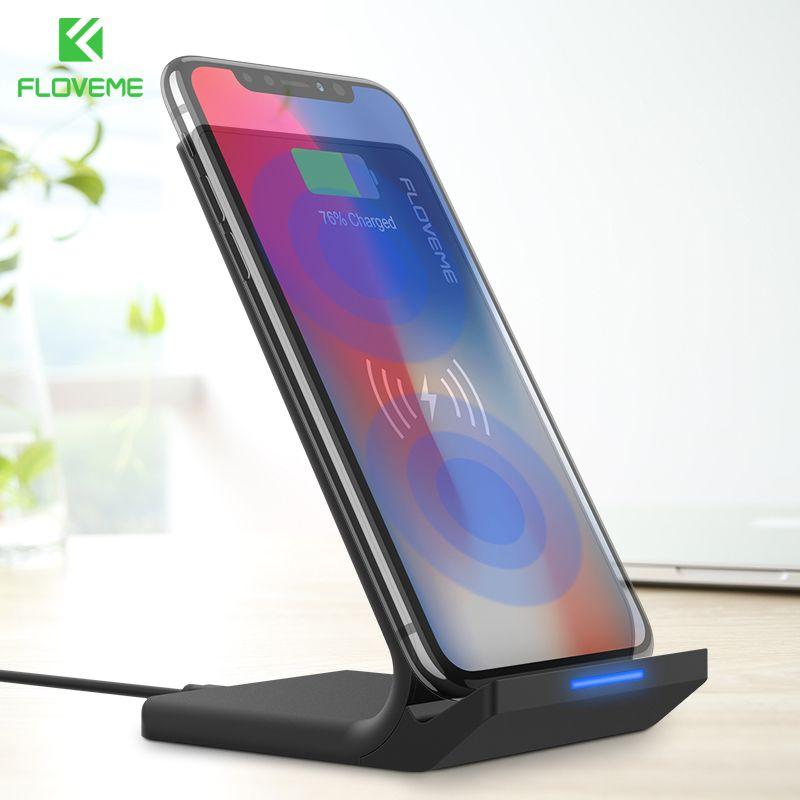 FLOVEME 5 V/2A Chargeur Sans Fil Pour Samsung Galaxy S8 S7 Bord Note 8 Qi Sans Fil De Charge Dock Pour iPhone X 8 8 Plus USB Chargeur