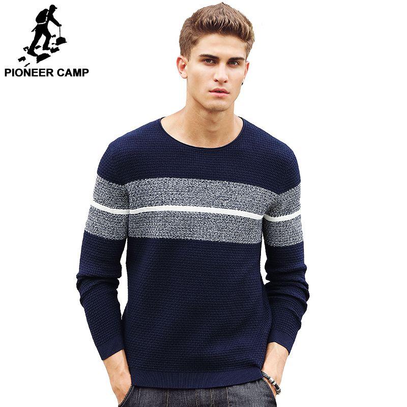 Pioneer Camp casual rayé chandail hommes marque vêtements Pull hommes de mode Designer chandails pour hommes 611201