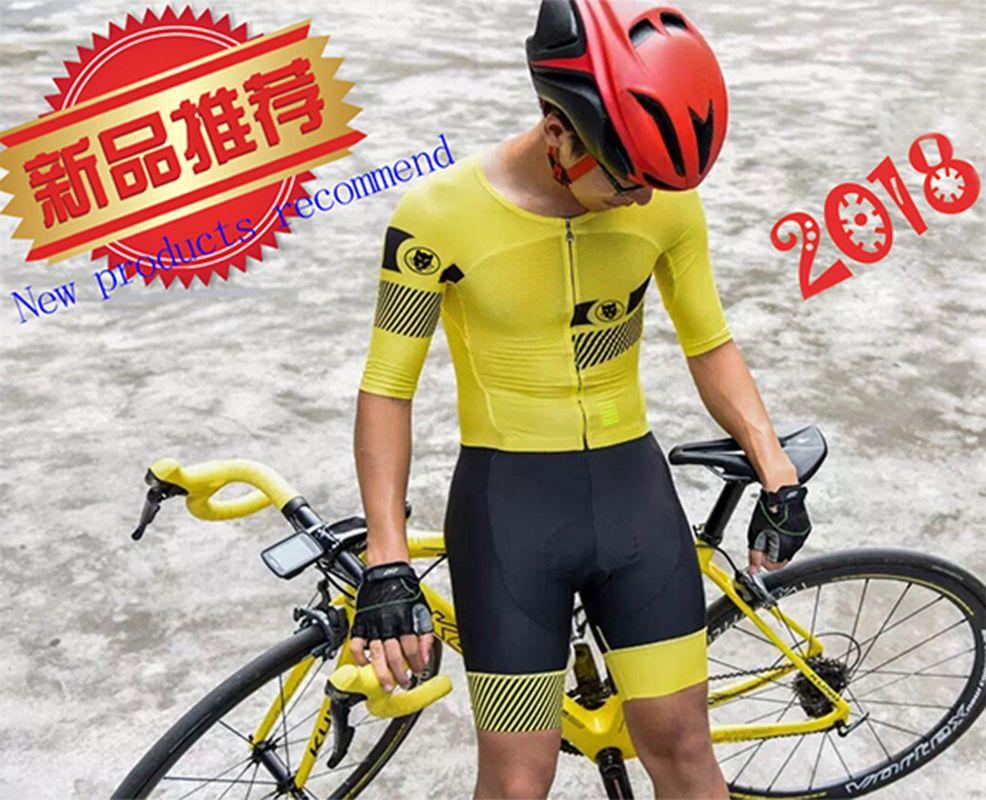 Runchita herren ropa ciclismo verano hombre 2018 conjuntos 9d mtb Sommer kurzarm skinsuit radfahren jersey 2018 pro team gelb