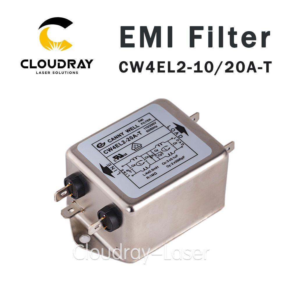 Cloudray puissance EMI filtre CW4L2-10A-T/CW4L2-20A-T monophasé AC 115 V/250 V 20A 50/60HZ livraison gratuite