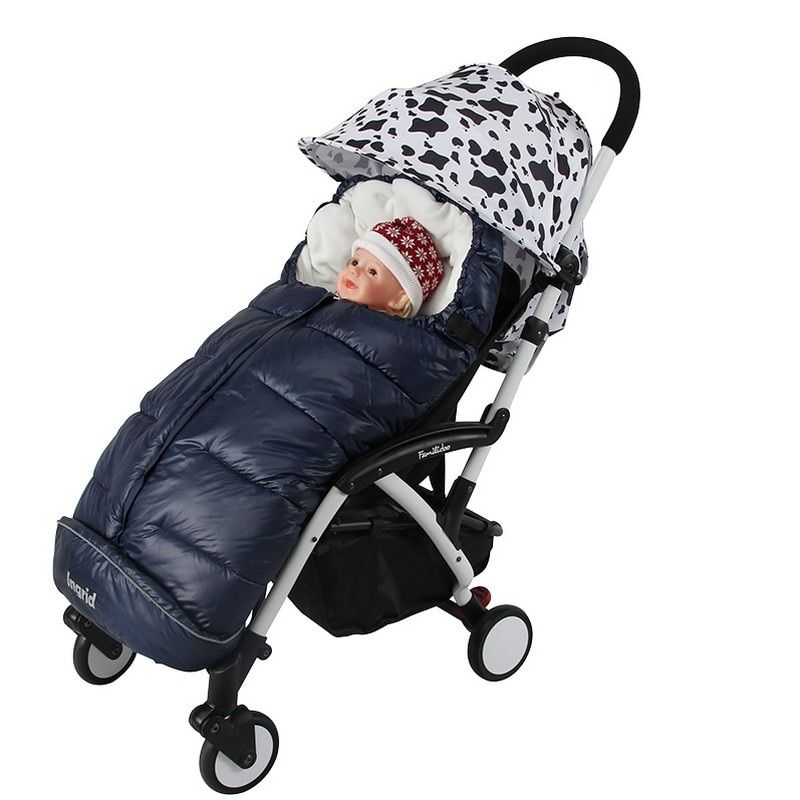 Hot 2018 New Rushed baby stroller Sleeping Bag Winter Warm Envelope For Pram Oxford footmuff for wheelchair stroller accessories