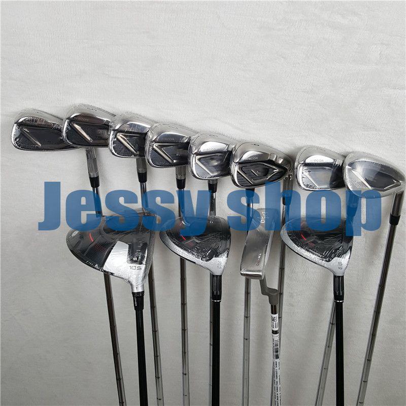 12 PCS M4 Golf Komplette Set + Caddy Tasche M4 Golf Clubs M4 Fahrer + Fairway Woods + Eisen + putter Graphit Welle Mit Kopf Abdeckung