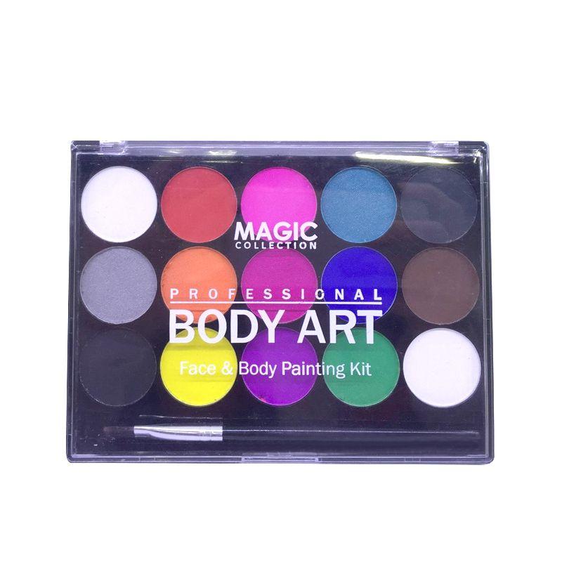 Kit de peinture professionnelle pour le visage 15 couleurs pour différentes fêtes