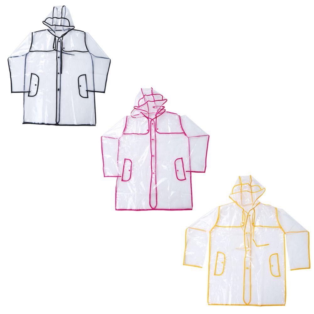 Transparent Rain Coat Outdoor Travel Men Women Unisex Rainsuit Waterproof Windbreaker Vinyl Waterproof Raincoat