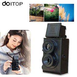 DOITOP DIY Toy Retro Lomo Film Camera Kit Twin Lens Reflex TLR 35mm Classic Retro Film Camera Toy Gifts For Children Friends #