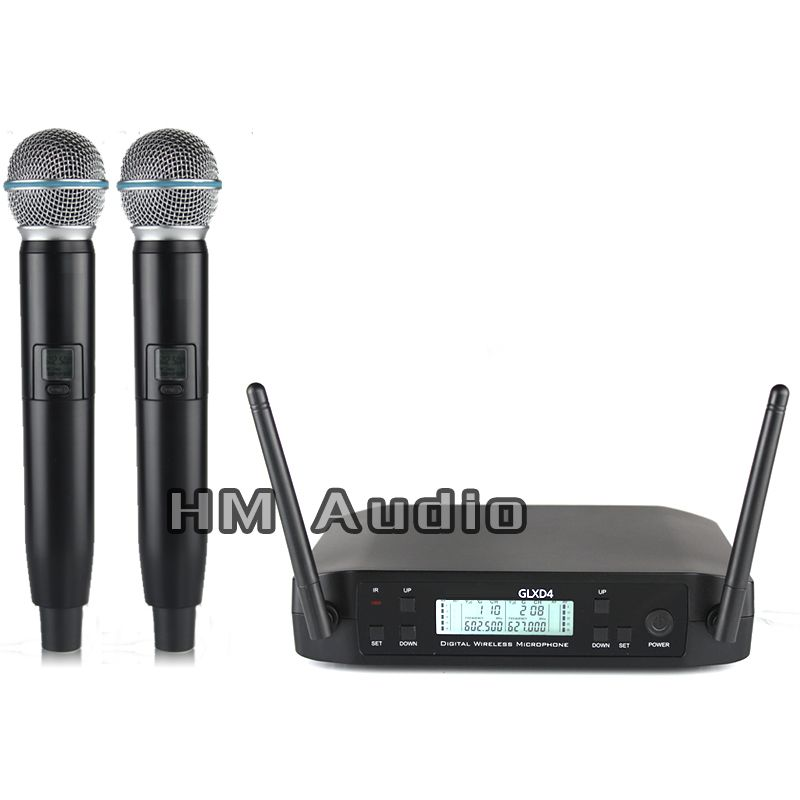 New High Quality Professional GLXD4 Dual Wireless Microphone System stage performances a two wireless microphone