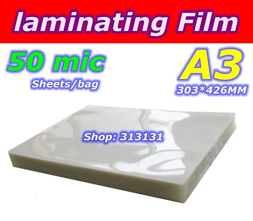 50mic A3 taille Plastifieuse stratification film