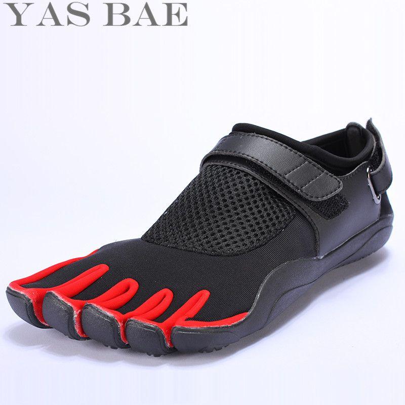 Большой размер 45 44 распродажа яс bae Дизайн резиновая с пятью пальцами открытый противоскользящая дышащие легкие кроссовки обуви для Для муж...