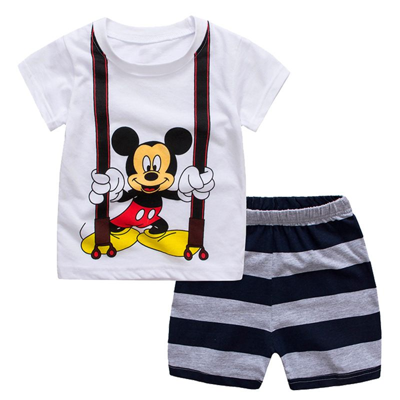 2019 vêtements garçons Spiderman Mickey Conjunto Infantis enfants tenues été survêtement bébé garçon pyjama Ensemble Vetement Ensemble Garcon