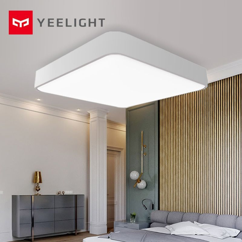 Original xiaomi mijia Yeelight Smart Square LED Ceiling Plus Light Smart Voice / Mi home APP Control for Bedroom Living Room