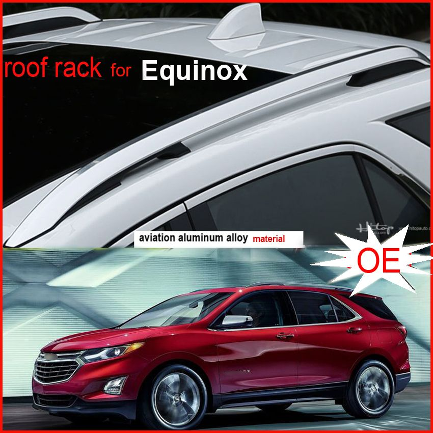 New arrival roof rail roof rack cross luggage bar for Chevrolet Equinox 2016 -2018. Thicken aluminum alloy,Asia free shipping.