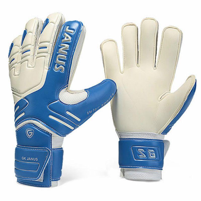 JANUS Brand Professional Goalkeeper Gloves Finger <font><b>Protection</b></font> Thickened Latex Soccer Football Goalie Gloves Goal keeper Gloves