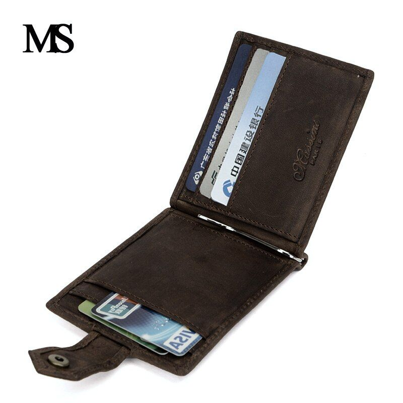 MS 2018 Новый Пояса из натуральной кожи мини кошелек Для мужчин карман на молнии монета доллар зажим для денег в винтажном стиле из натуральной...