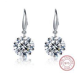 Горячая мода ювелирные изделия 925 серебряные серьги женский Кристалл от Swarovski новые женские имя серьги Близнецы микро набор