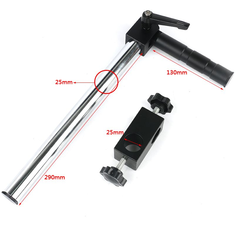 Dia Diameter 25mm Multi-axis Adjustable Metal Arm Adjustable Metal Arm Support For Industry Stereo Zoom Microscope Camera