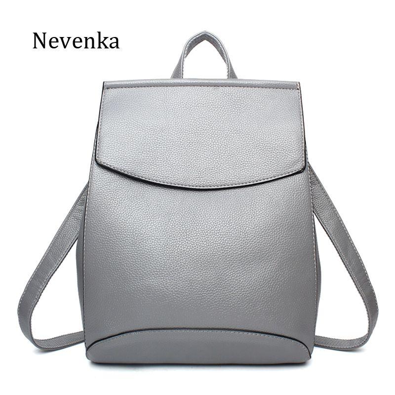 Nevenka Women Backpacks Lady Softback Bag Style Fashion Bags Pu Leather High Quality Shoulder Bag Brand Design Backpack Sac