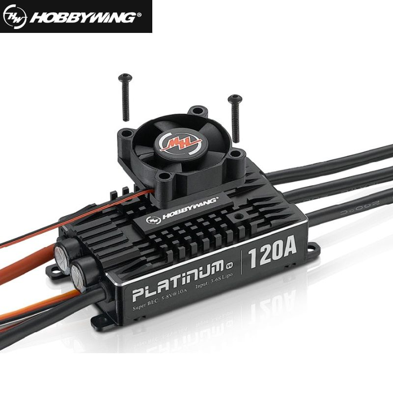 1pcs Original Hobbywing Platinum Pro V4 120A 3-6S Lipo BEC Empty Mold Brushless ESC for RC Drone Aircraft Helicopter+retail box