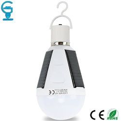 Gitex Rechargeable Led Bulb E27 LED Solar Lamp 7W 12W 85V-265V Outdoor Emergency Solar Powered Bulb Camping Hiking Fishing Light