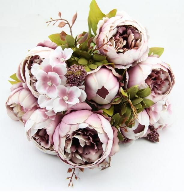 Decorative flowers European high-grade silk peony artificial flowers artificial flowers home floralDecorative flowers
