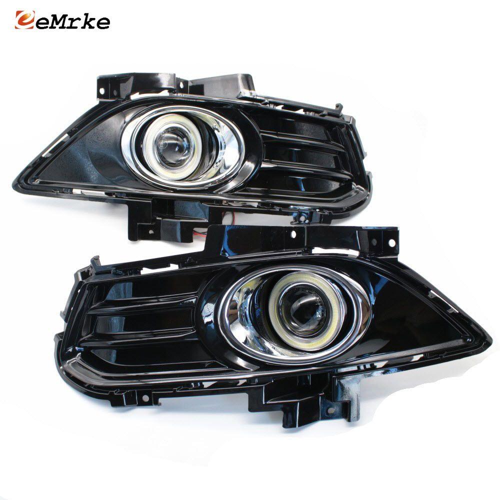 Auto-Styling Für Ford Fusion/Mondeo MK V COB Angel Eyes DRL Nebel Lampe Tagfahrlicht H11 55 W Halogenlampen Kits