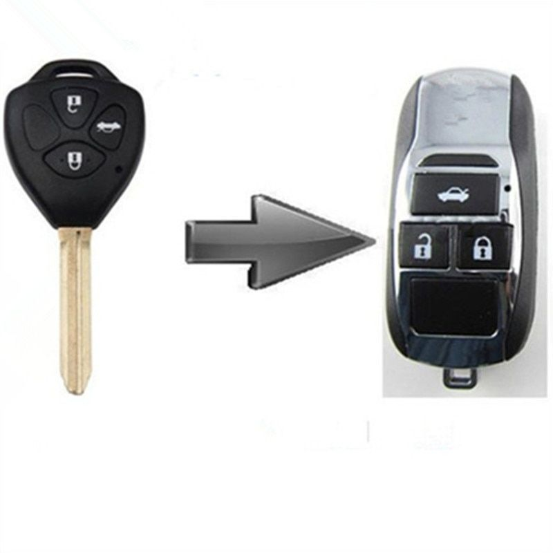 Free shipping Blank modified flip folding remote car key shell cover for Toyota Camry/Corolla 3button with best price