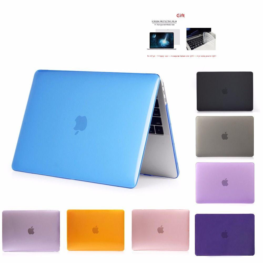 Nouveau cristal \ mat étui pour APPle MacBook Air Pro Retina 11 12 13 15 mac Book 15.4 13.3 pouces avec barre tactile A1932 A1466