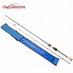 Tsurinoya Lembut Spinning Rod 1.89 M Bagian 2 Power 30 T Serat Karbon UL Umpan 2-8G Line 4-8lb Lembut Cork Handle Fishing Tackle