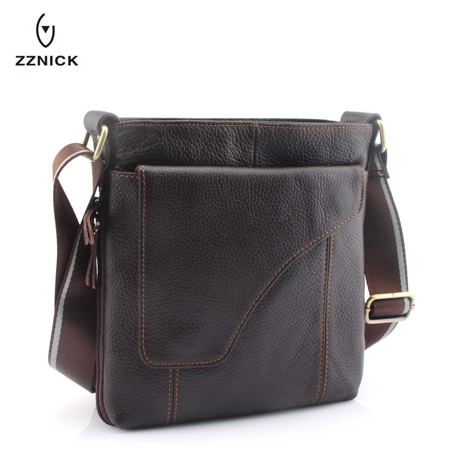 ZZNICK 2018 New Arrival Men's Genuine Leather Messenger Bag Shoulder Bags For Men Cross Body Bag Travel Business Fashion 830*