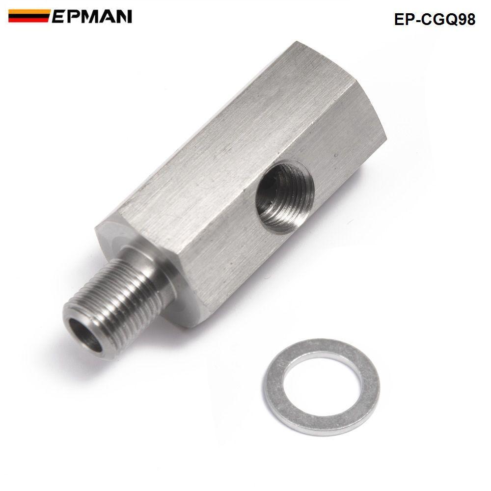 1/8 ''NPT aceite Sensores de presión tee a adaptador NPT suministro Turbo línea de alimentación calibre ep-cgq98