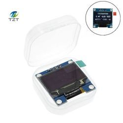 White Blue color 128X64 OLED LCD LED Display Module For Arduino 0.96 I2C IIC Serial new original with CaseI