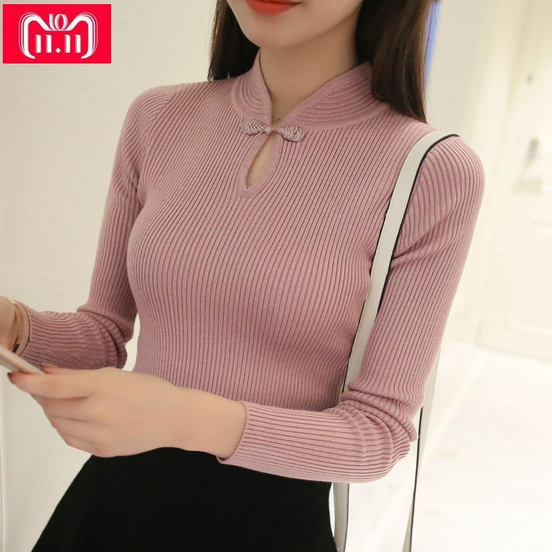 OHCLOTHING Hot 2018 Winter New Fashion <font><b>Thickened</b></font> half turtleneck sweater short female thread tight all-match solid new shirt