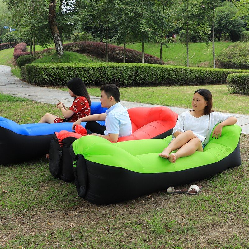 Mutli Colors Portable Inflatable Sofa Camping Travel Holiday Air Bag Sleeping Lazy Bag Lounger Bag Air Bed air-filled bean bag