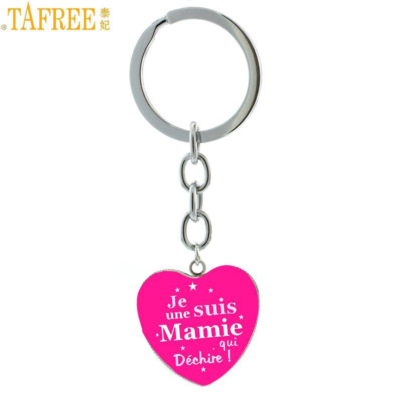 Tafree Лидер продаж Merci maitresse брелок изысканный ручной работы Je suis une Мами Квай dechire цепочка для ключей кольцо для учителя подарок hp568