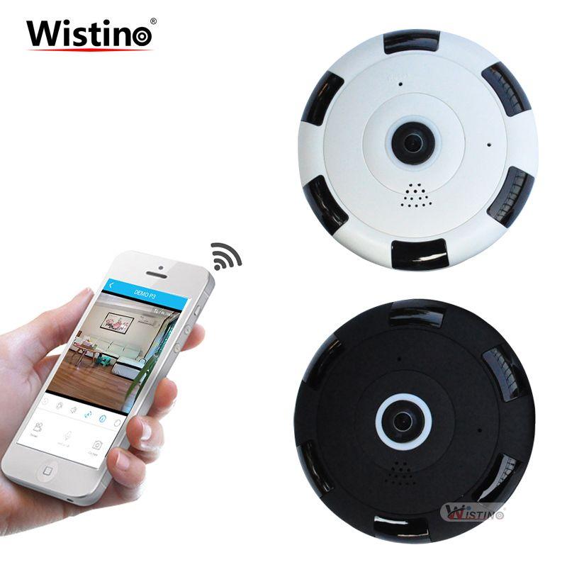 Wistino CCTV Mini Camera HD 960P 360 Degree Full View Wireless IP Camera Network Baby Monitor Home Security WiFi Camera Alarm TF