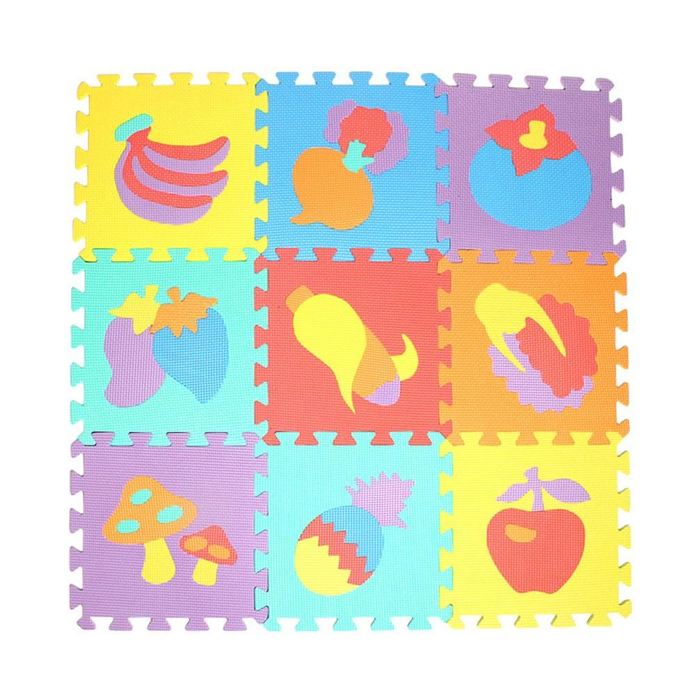 10 pcs Modèle animal Mousse Puzzle Enfants Tapis Tapis Commune Fendue EVA Tapis de Jeu pour bébé Intérieur Doux activité Puzzle Tapis