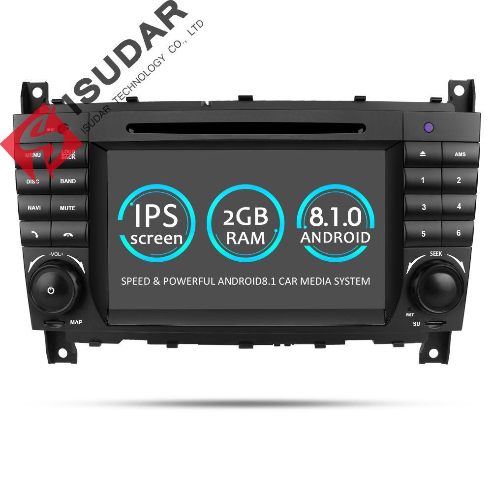 Isudar Car Multimedia Player GPS Android 8.1 2 Din DVD Automotivo For Mercedes/Benz/Sprinter/W203/A180/Viano/Vito/A-class Radio