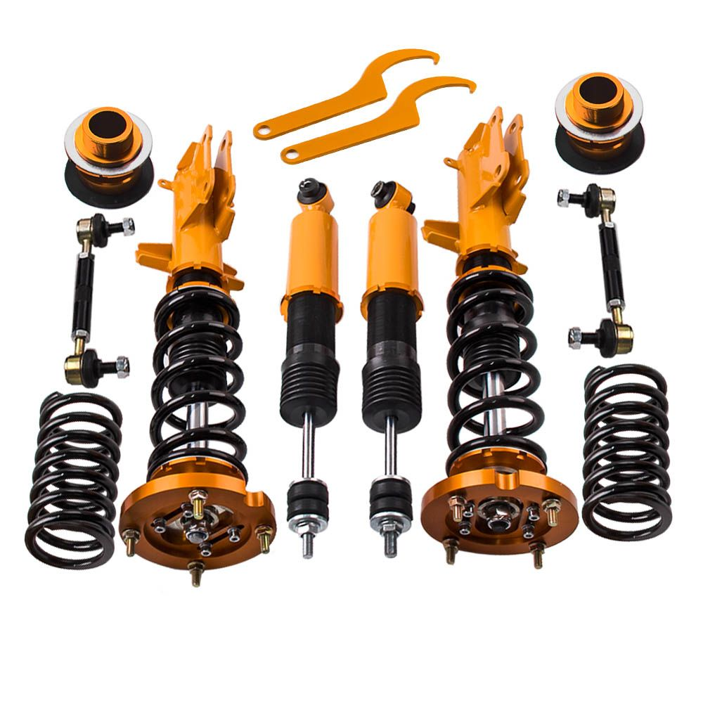 Coilovers Strut Kits for Ford Mustang GT 2007-2012 Adjustable Height + Top Mount Hats Exclude GT500 Model Coilover Suspension